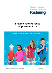 Statement of Purpose September 2015
