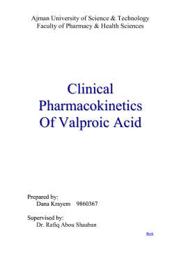 3rd. An example to illustrate drug interaction of valproic acid