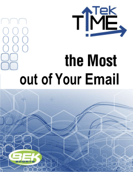 Getting the Most Out of Your Email
