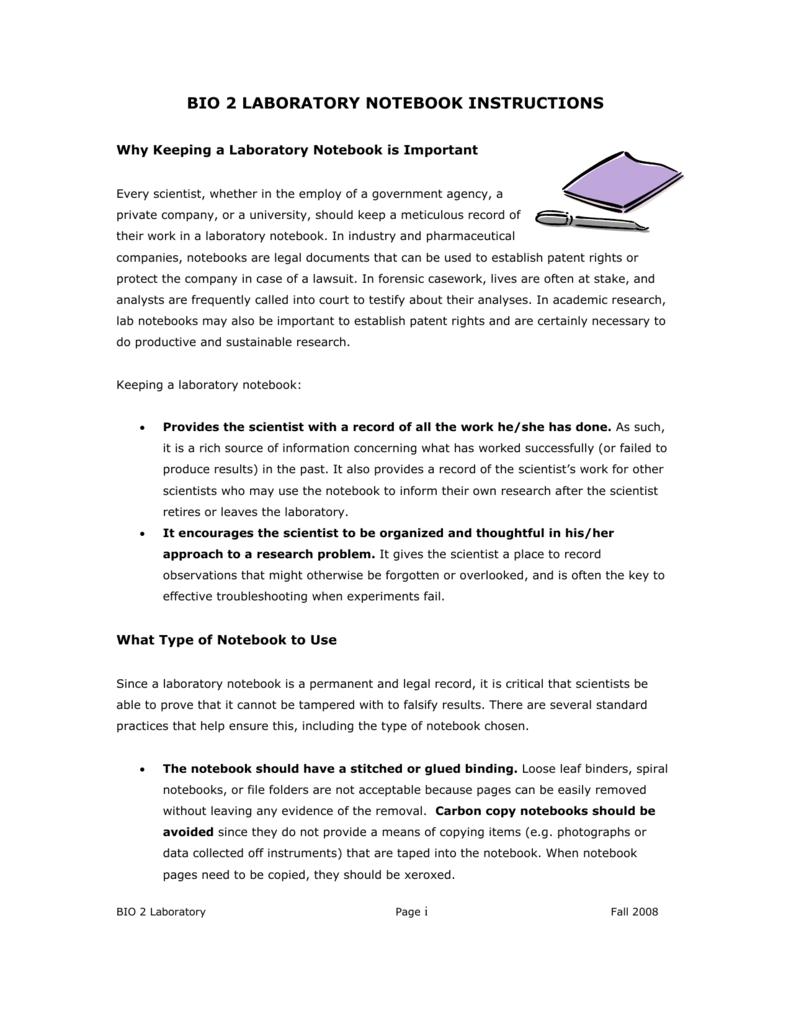 lab notebooks