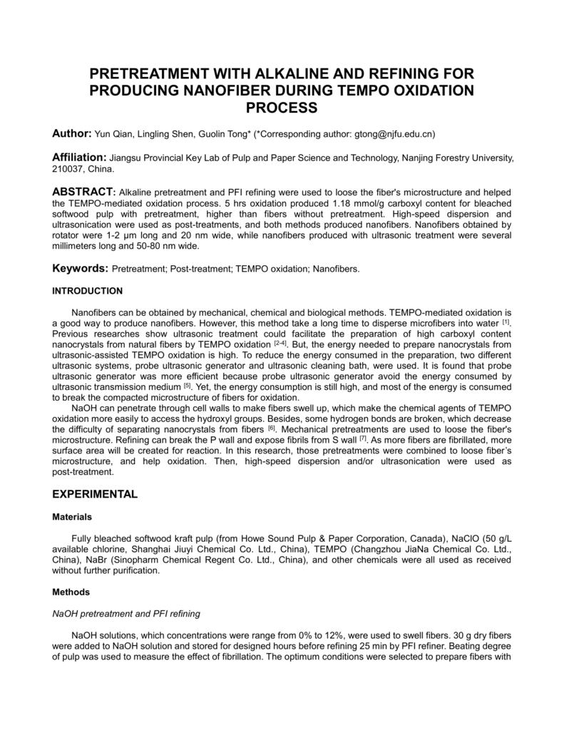 the preparation method of nano-fibers by tempo