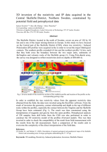 3D inversion of the resistivity and IP data acquired in the