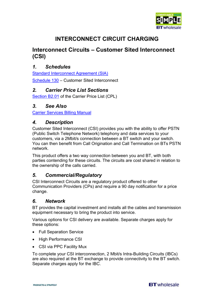 INTERCONNECT CIRCUIT CHARGING