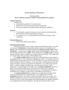 Water Quality (Chemistry) - The Beaver Creek Environmental Atlas