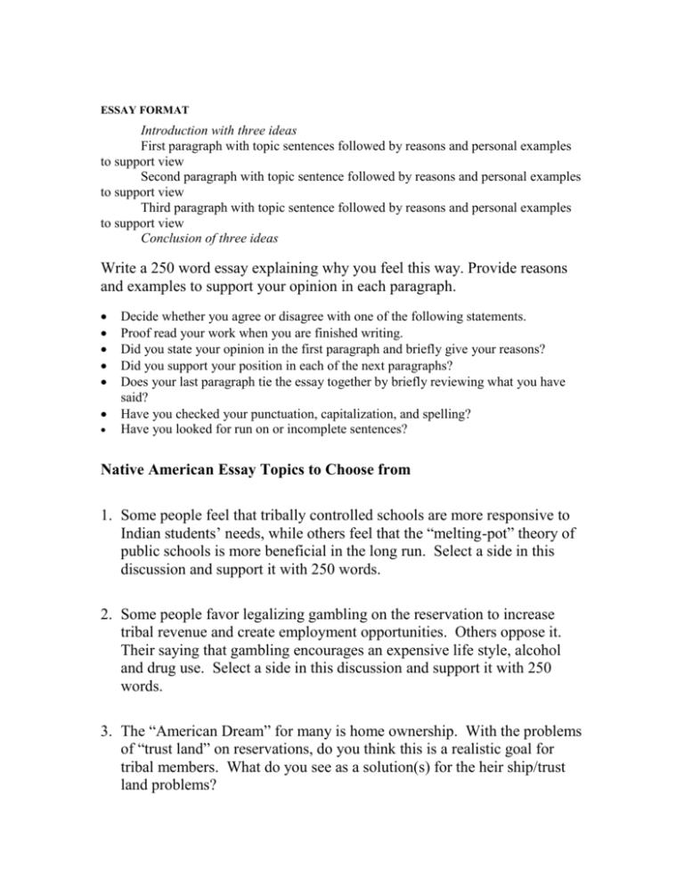 trust essay topics