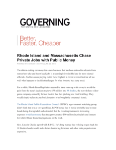 Rhode Island and Massachusetts Chase Private Jobs with Public