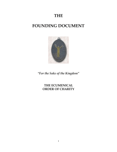 The Founding Document - The Ecumenical Order of Charity