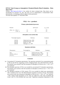 Data Sheet PI12 - IUPAC Task Group on Atmospheric Chemical