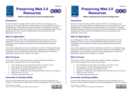 Preserving Web 2.0 Resources