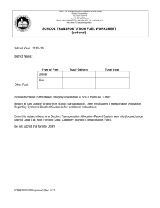 School Transportation Fuel Worksheet