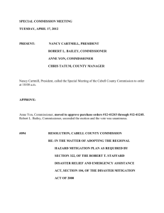 SPECIAL COMMISSION MEETING TUESDAY, APRIL 17, 2012