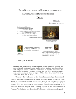 Mathematics in Baroque Science