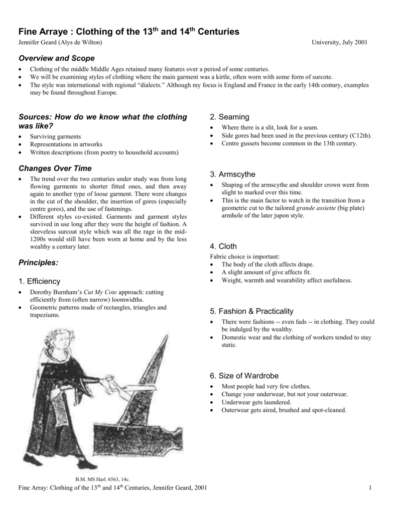Fine arraye: 14th-century clothing