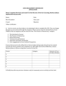 CEC Application