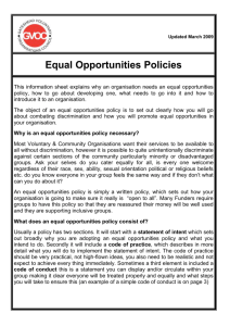 Equal Opportunities Policies