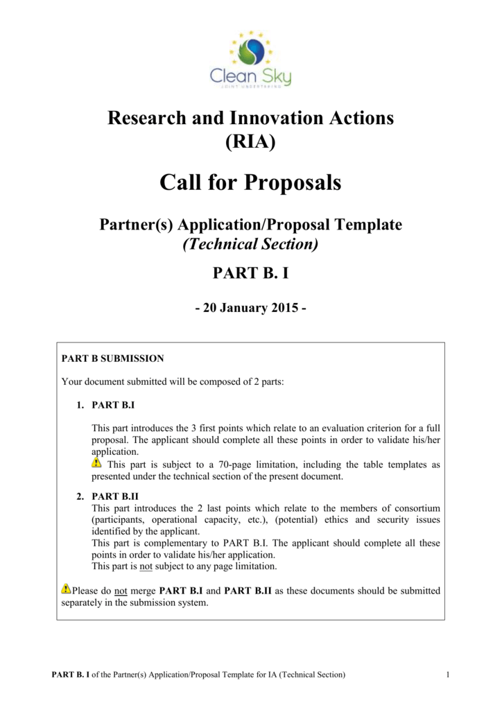 Research And Innovation Actions Ria Call For Proposals Partners