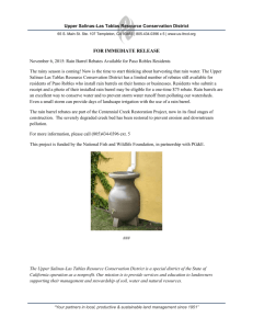Rain Barrel Rebates Available 11/15/15