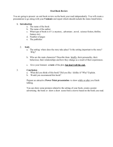 Oral Presentation Rubric: Oral Book Report