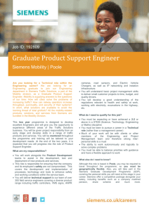 Graduate Product Support Engineer