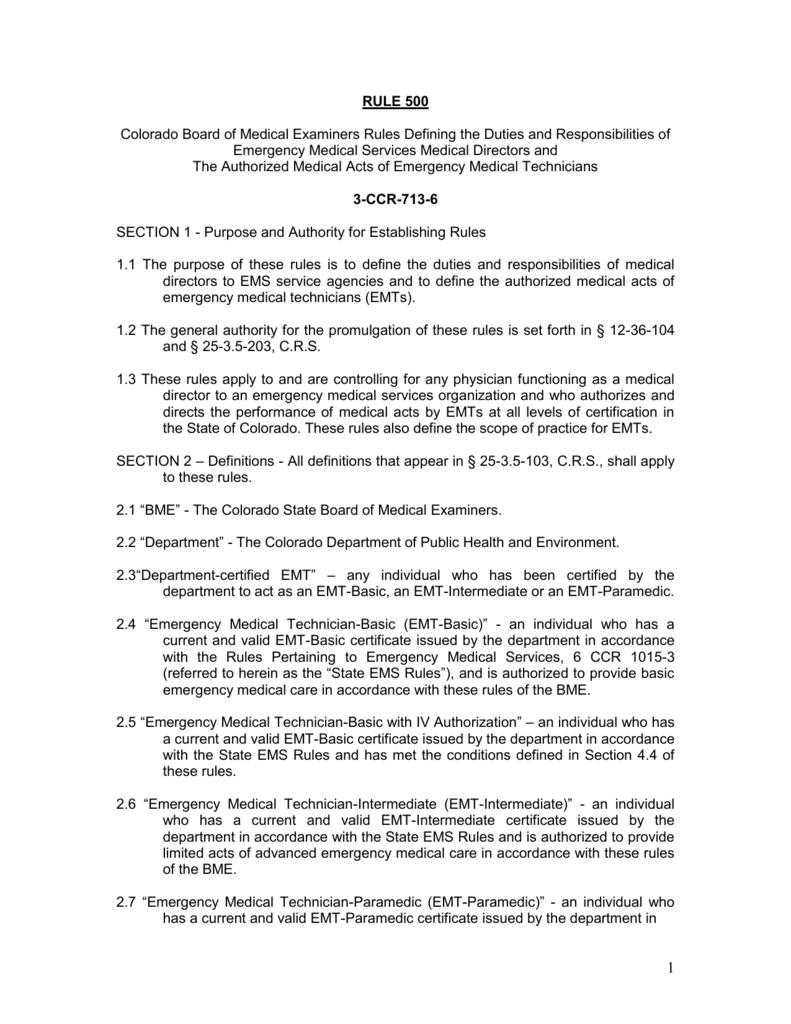 3 Ccr 713 6 Rule 500 Colorado Secretary Of State