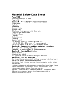 Biodiesel MSDS - Cooking-oil