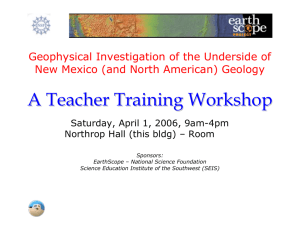Geophysical Investigation of the Underside of New Mexico (and
