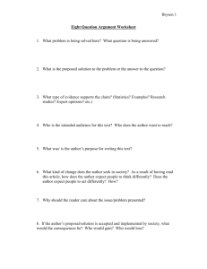 Eight Question Argument Worksheet