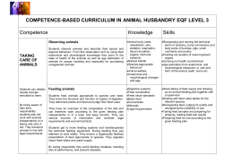 Animal Husbandry Competence-based Curriculum EQF