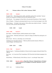 Conference Schedule - Newspaper and Periodical History Forum of