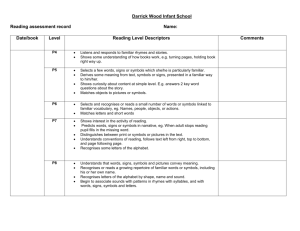 Reading assessment - Darrick Wood Infant and Nursery School