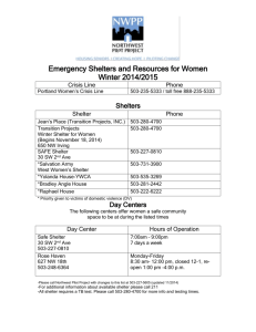 SHELTERS FOR WOMEN LIST
