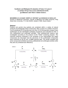 Synthesis and Biological Evaluation of Some 3-Cyano-4-(1