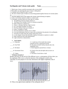 Earthquake and Volcano Test