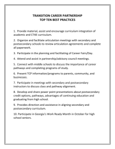 TRANSITION CAREER PARTNERSHIP TOP TEN BEST