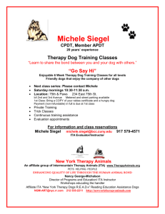 New York City Therapy Dog Training Classes
