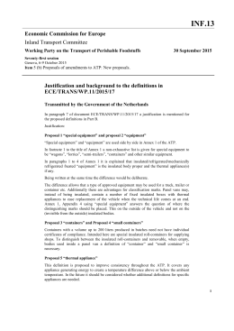 INF.13 Economic Commission for Europe Inland Transport