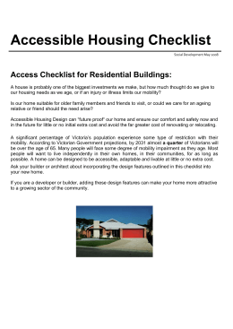 Accessibility-Disabled Access checklist