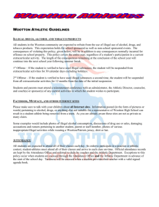 Wootton Athletic Guidelines