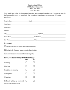Annual questionaire