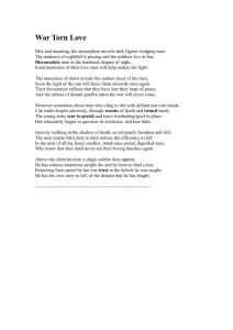 English - War Poem - Andrew Noske Homesite