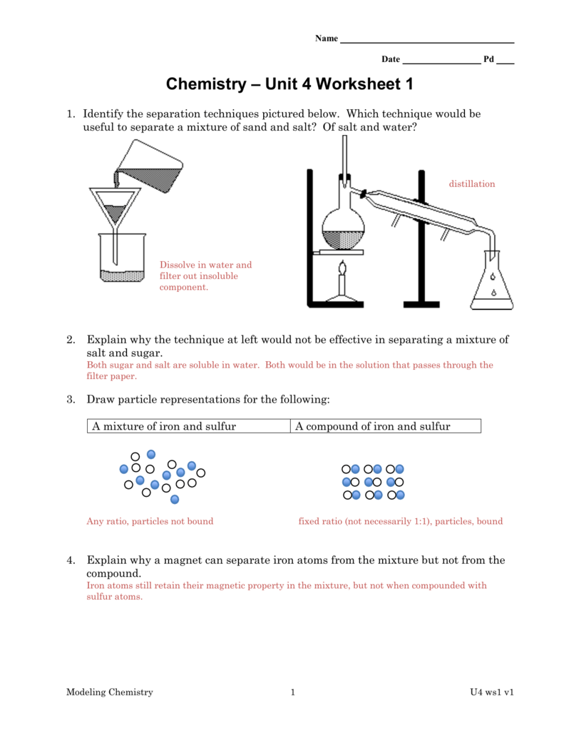 template Buckeye Valley – Chemistry Unit 1 Worksheet 3