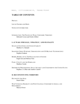 table of contents - Individual.utoronto.ca