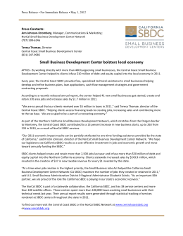 Central Coast Small Business Development Center bolsters local