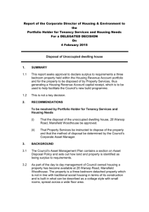 Report of - Mansfield District Council