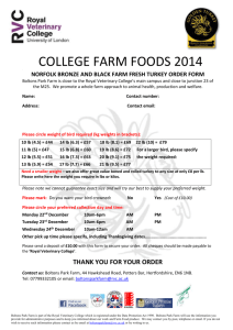 Turkey Order Form - Royal Veterinary College
