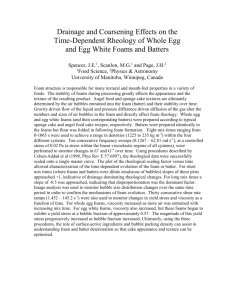 Structural Effects on the Rheology of Whole Egg and Egg White