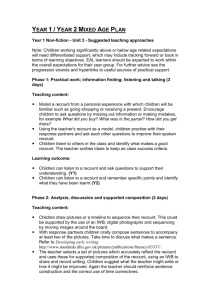 Year 1 Non-fiction - Unit 3 - Suggested teaching approaches