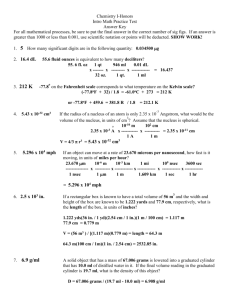 Intro to Math Practice Test