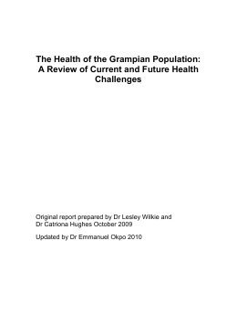 Health of the grampian population