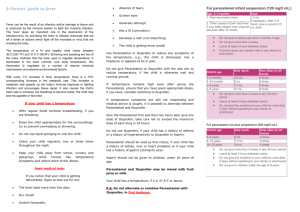 Patient Information Leaflet - Fevers in Children
